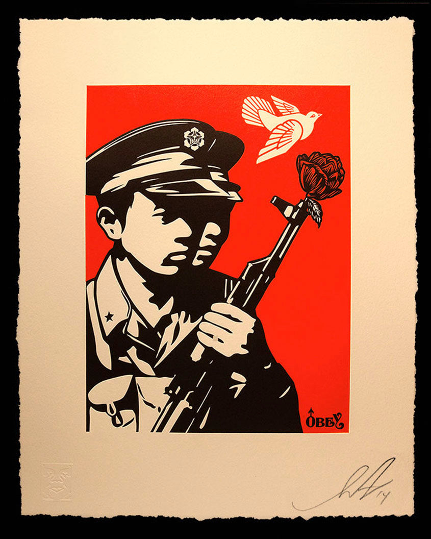 CHINESE SOLDIERS LETTERPRESS by Frank Shepard Fairey (Obey)