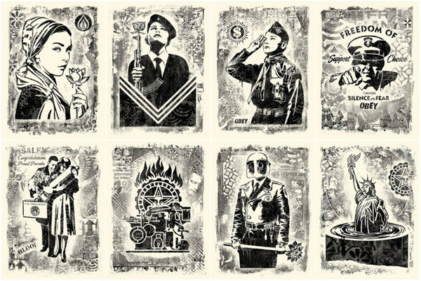 DAMAGED STENCIL SERIES by Frank Shepard Fairey (Obey)