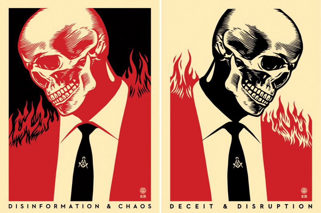 DECEIT & DISRUPTION  by Frank Shepard Fairey (Obey)