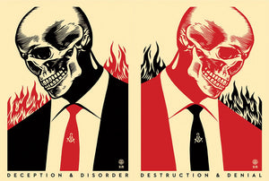 Destruction & Denial  by Frank Shepard Fairey (Obey)