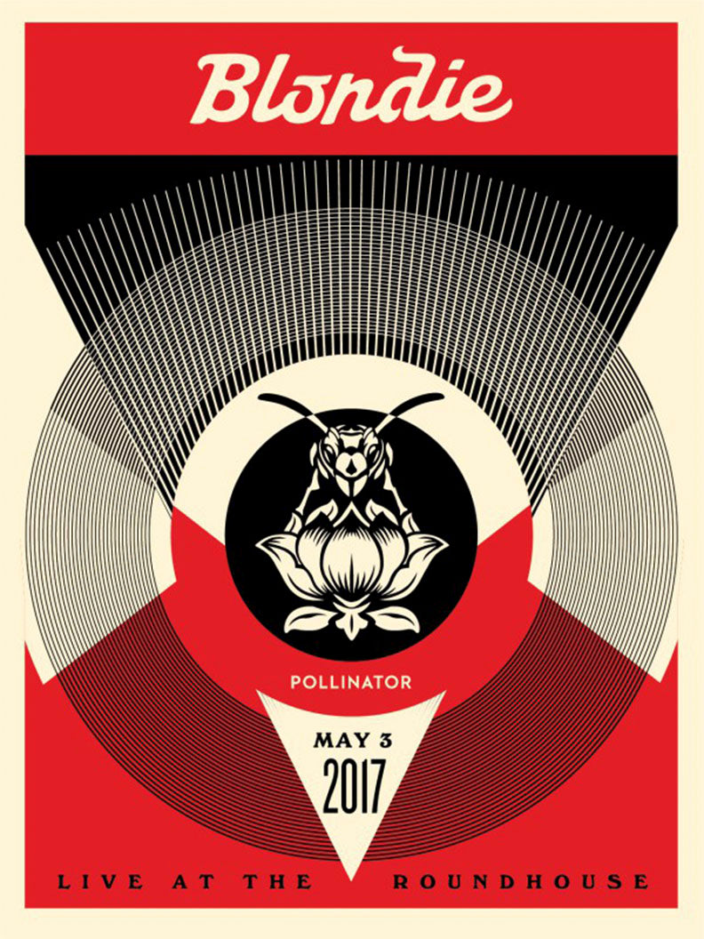 Live at the Roundhouse (Red)  by Frank Shepard Fairey (Obey)