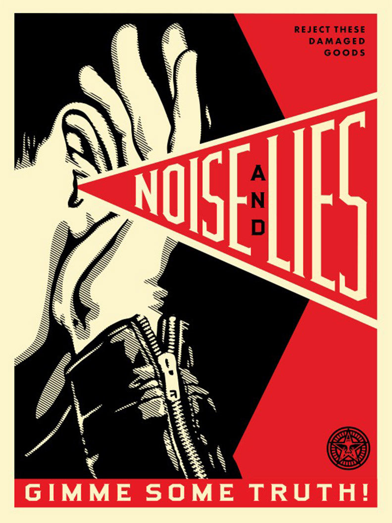 NOISE & LIES (RED)  by Frank Shepard Fairey (Obey)