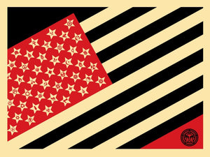 MAYDAY FLAG SMALL by Frank Shepard Fairey (Obey)