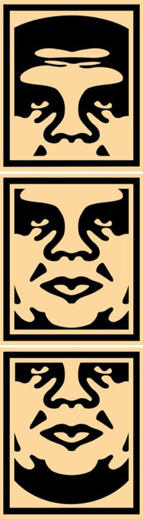 OBEY OFFSET POSTER SET CREAM  by Frank Shepard Fairey (Obey)