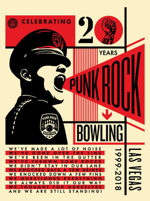 PUNK ROCK BOWLING 20TH  by Frank Shepard Fairey (Obey)