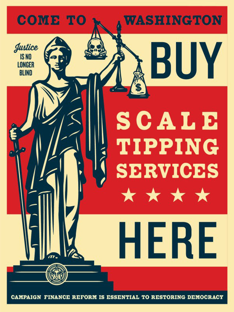 SCALE TIPPING  by Frank Shepard Fairey (Obey)