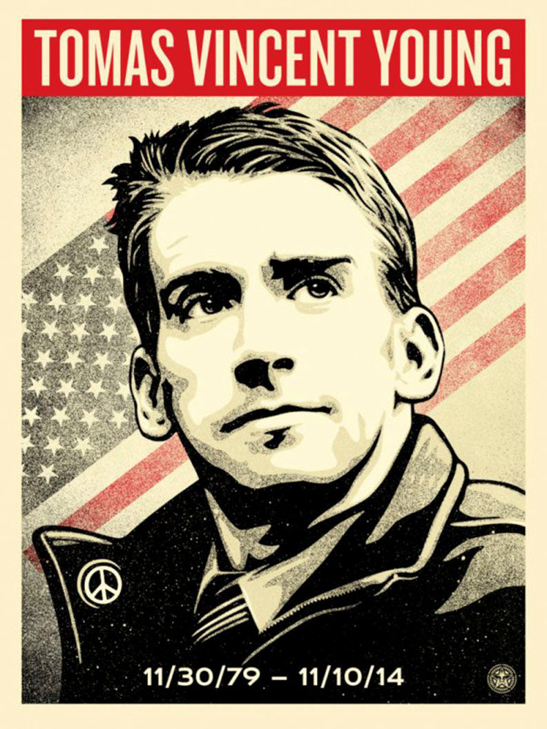 TOMAS YOUNG TRIBUTE   by Frank Shepard Fairey (Obey)