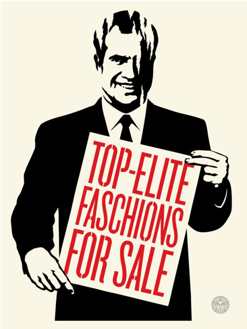 TOP-ELITE FASCHIONS FOR SALE   by Frank Shepard Fairey (Obey)