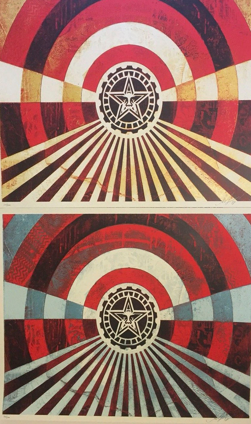 Tunnel Vision Gold/Blue Set /400  by Frank Shepard Fairey (Obey)