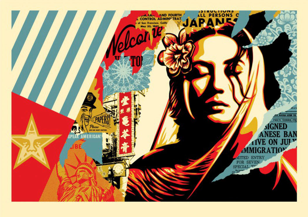 WELCOME VISITOR, LARGE FORMAT  by Frank Shepard Fairey (Obey)