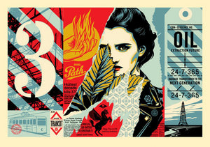 WRONG PATH LARGE FORMAT  by Frank Shepard Fairey (Obey)
