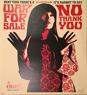 War for Sale by Frank Shepard Fairey (Obey)