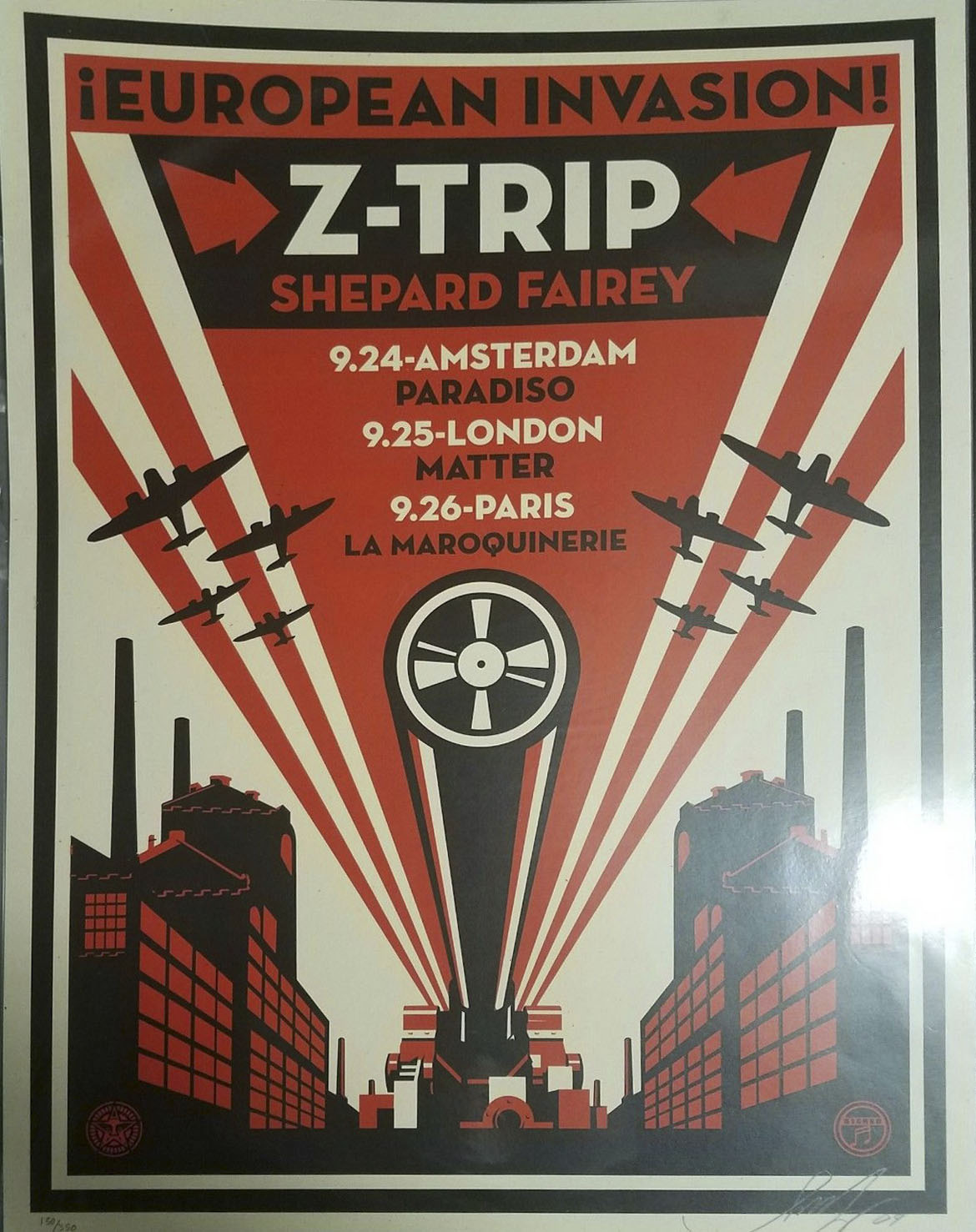 EUROPEAN INVASION Z TRIP by Shepard Fairey