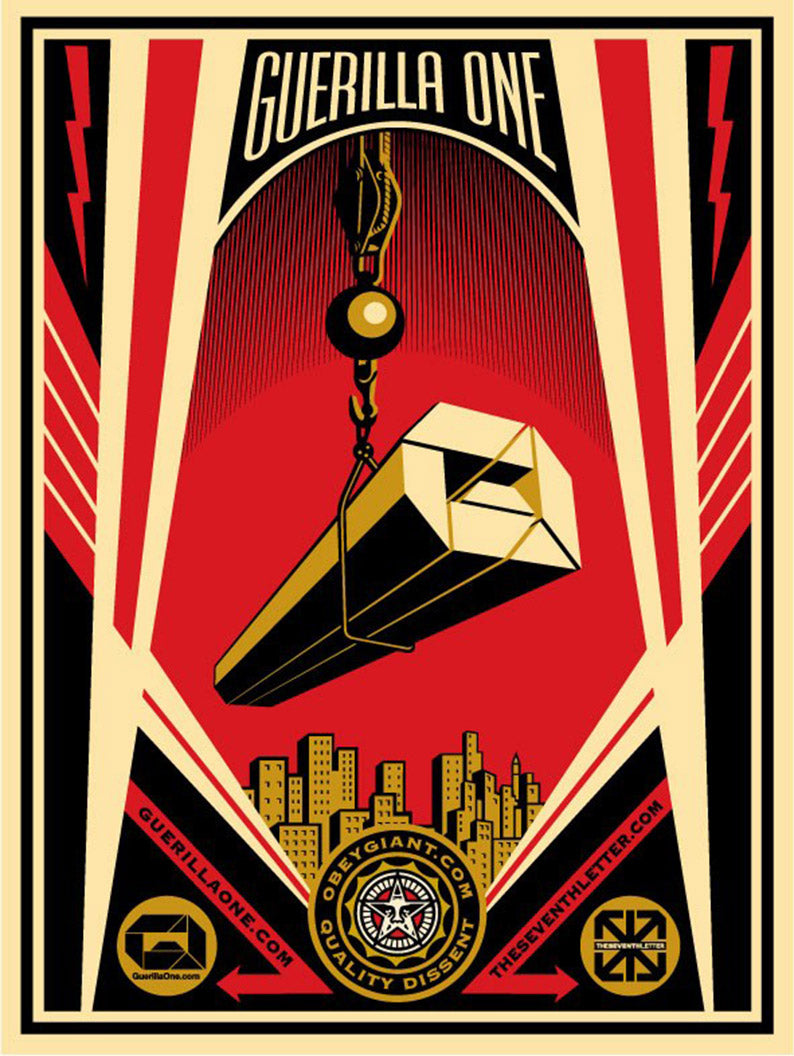 GUERILLA ONE X THE SEVENTH LETTER COLLABORATION by Frank Shepard Fairey (Obey)