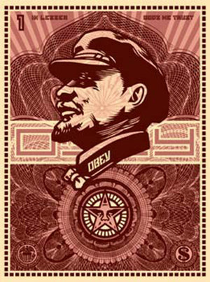 LENIN MONEY by Frank Shepard Fairey (Obey)