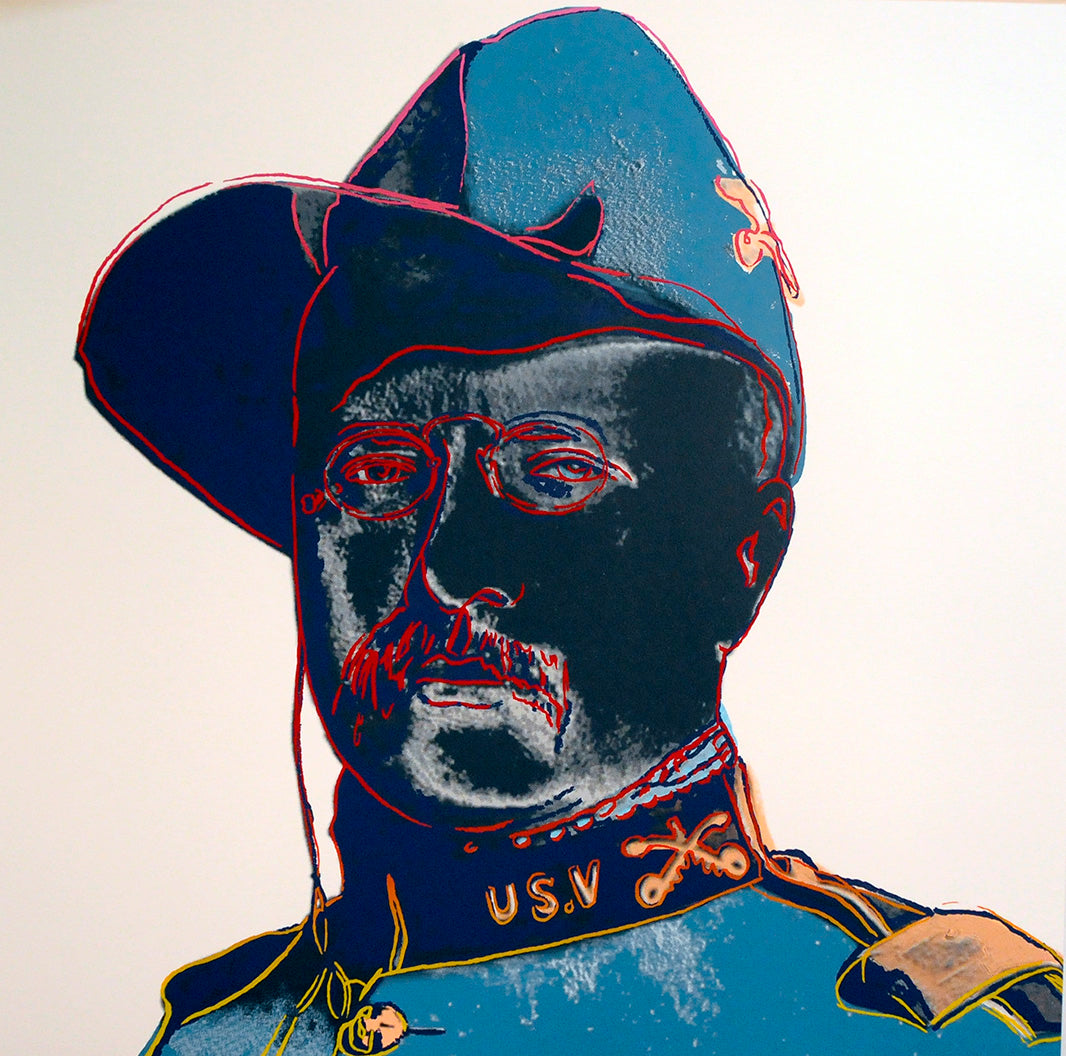 Teddy Roosevelt, from Cowboys and Indians, 1986 by ANDY Warhol
