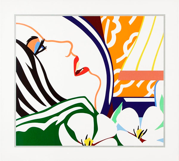 Bedroom Face with Orange Wallpaper, 1987 by Tom Wesselmann