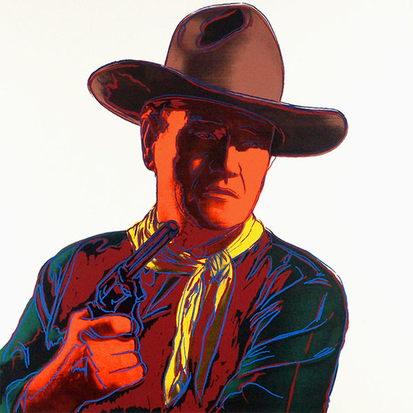 John Wayne, from Cowboys and Indians, 1986 by ANDY Warhol