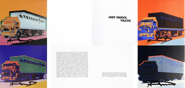TRUCKS INVITATION by ANDY Warhol