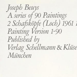 A series of 90 Paintings. 2 Schafskopfe (Loch) 1961 1975. by  Joseph Beuys