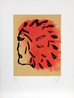 Indian Head from Peace Portfolio 1972 by Claes Oldenburg