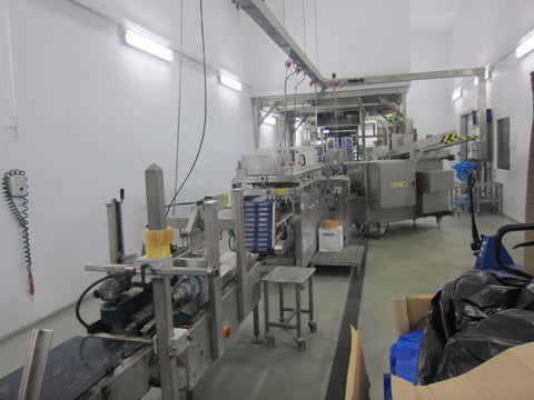 Complete packing line for vegetables