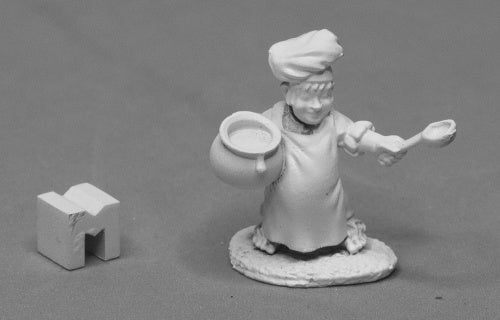 03949: Pudgin Panflour, Halfling Cook sculpted by Bobby Jackson