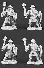 06002: Men At Arms Of Breonne (pack of 4 miniatures)