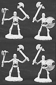 06005: Skeletons with Axes (4 figures) by Ed Pugh