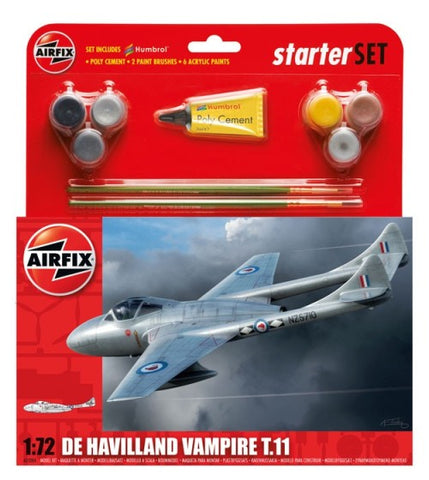 Airfix De Havilland Vampire T11 Starter Set 1:72: www.mightylancergames.co.uk