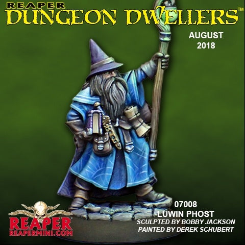 07008: Dungeon Dwellers: Luwin Phost, Adventuring Wizard sculpted by Bobby Jackson