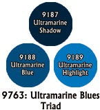 Reaper: Master Series Paints - 09763: Ultramarine Blues Triad