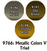 Reaper: Master Series Paints - 09766: Metallics V Triad