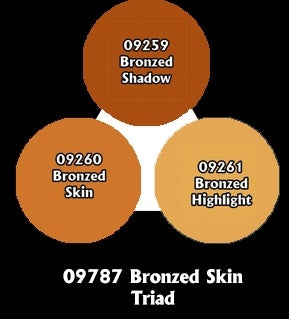 Reaper: Master Series Paints - 09787: Bronzed Skin Triad