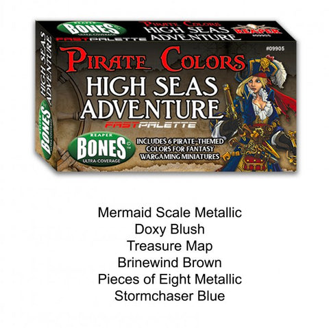 09905: HIGH SEAS ADVENTURE FAST PALETTE MSP PAINT SET-REAPERCON