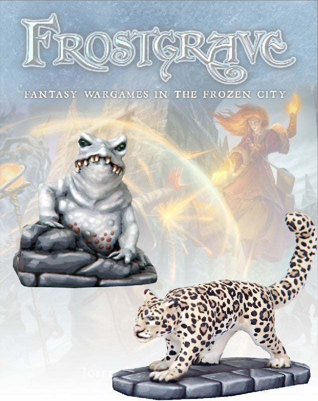 Frostgrave: Ice Toad & Snow Leopard: www.mightylancergames.co.uk