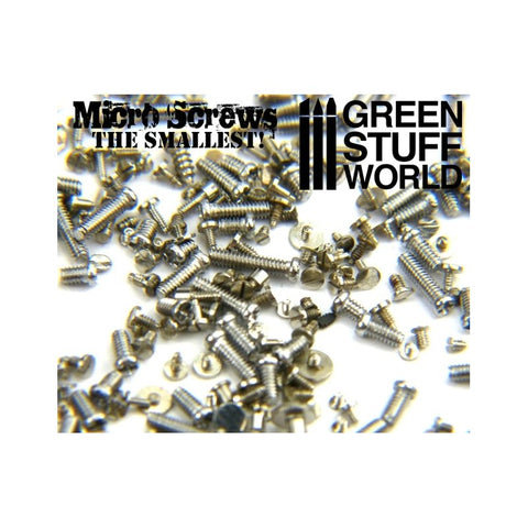 Micro Screws - 0.1mm to 1.2mm -9160- Green Stuff World