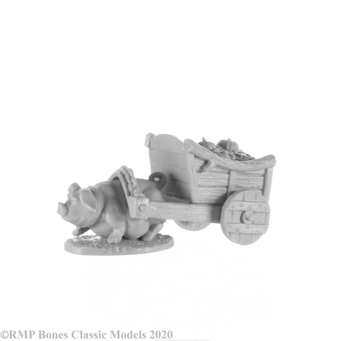 Reaper Miniatures 77657 Pig and Cart