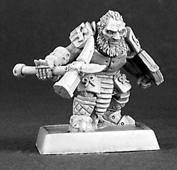 Reaper Warlord 14331 - Dark Dwarf Warrior, Mercs: www.mightylancergames.co.uk