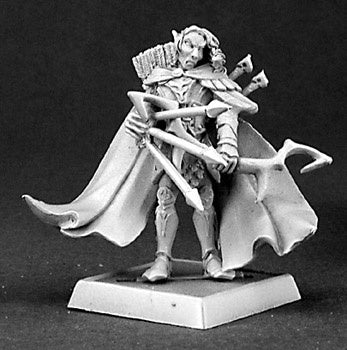 14334: Eawod Silverrain, Elf Warlord sculpted by Bobby Jackson: www.mightylancergames.co.uk