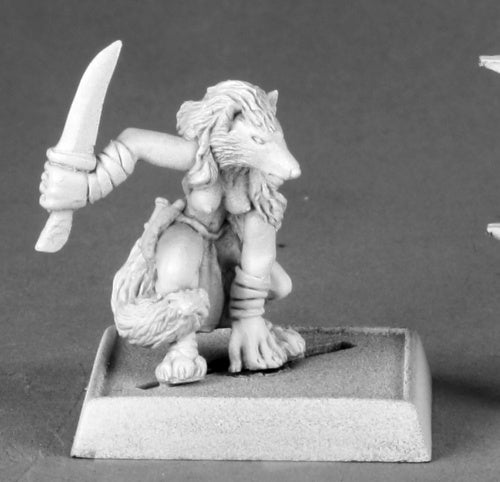 14591: Handmaiden of Keskura (Werefox Form) sculpted by Patrick Keith