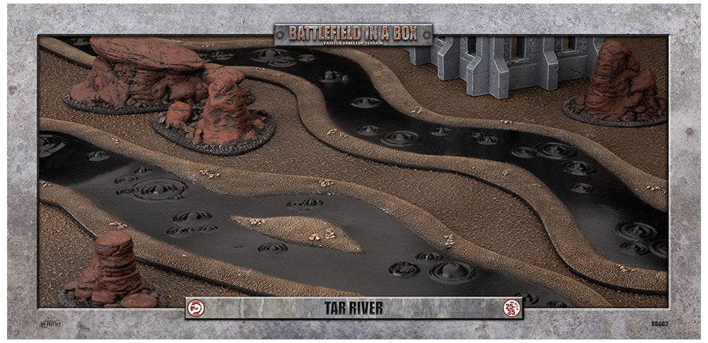 Battlefield in a Box: Tar River (6ft) - 30mm (BB603) Mighty Lancer Games