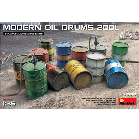 MODERN OIL DRUMS 200L - 1:35- MiniArt - 35615