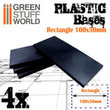 Plastic Base Rectangle 100x50mm -9834- Green Stuff World