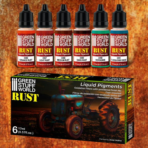 Rust Liquid Pigments Set - 10126- Green Stuff World