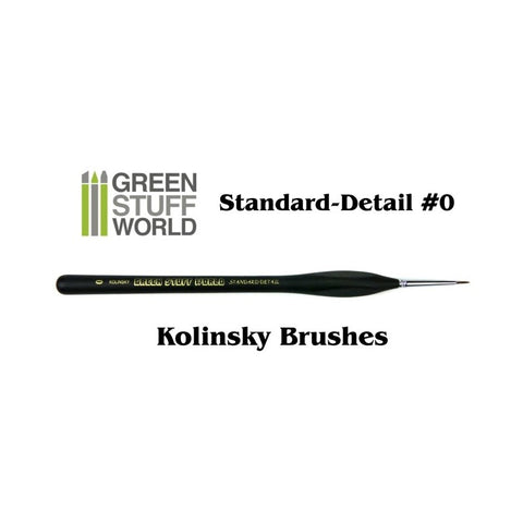Standard Detail 0 Natural Kolinsky brush - GSW