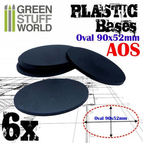 Plastic Bases - Oval Pill 90x52mm -9891- Green Stuff World