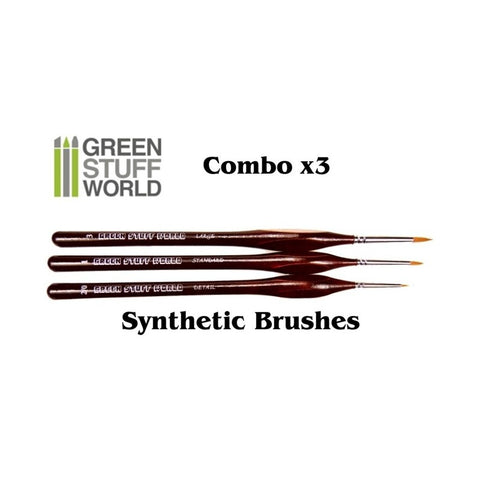 - 1x Detail Brush #2/0 - 1x Standard Brush #1 - 1x Large Brush #3