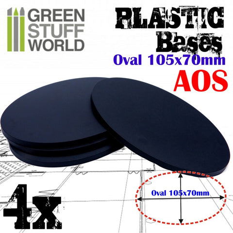 Plastic Bases - Oval Pill 105x70mm -9892- Green Stuff World