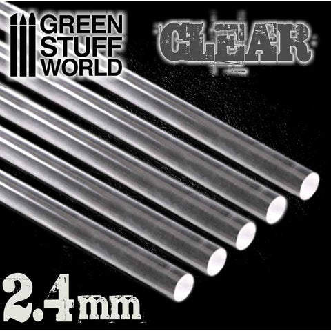 Acrylic Rods - Round 2.4 mm CLEAR- 9256 -Green Stuff World